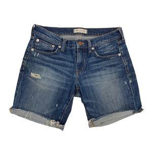 Madewell Slim Boyjean Distressed Cutoffs Shorts